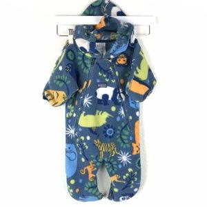 Patagonia Baby Bunting Animals Blue  Synchilla